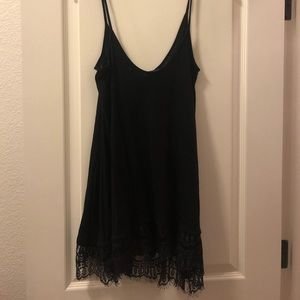 Flowy black top with lace detail